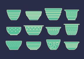 Vector Set av skålar