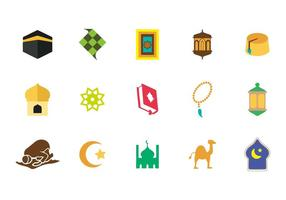 Fri islamiska Ikoner Vektor