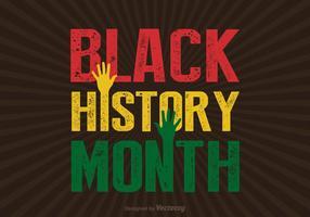 Black History Month Sunburst Vektor Hintergrund