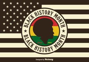 USA Black History Month Vector Bakgrund
