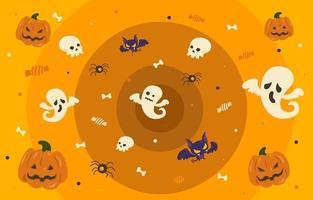 schrulliger Halloween E-Meeting Hintergrund
