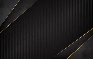 schwarz mit goldenem Akzent Hintergrund vektor