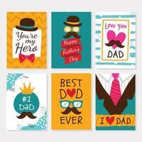 Satz von Vatertagsgrüßen