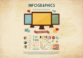 Monitor-Grafik Vektor
