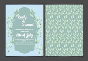 Vektor Blaue elegante Hochzeits-Einladung