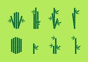 Bambus-Symbol Vektor-Set vektor