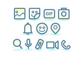 Tecnologia Facebook Messenger Ikon vektor