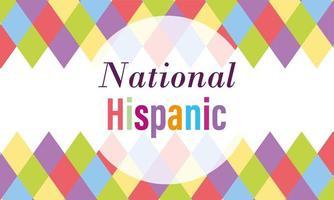 Nationales spanisches Erbe Monat Design