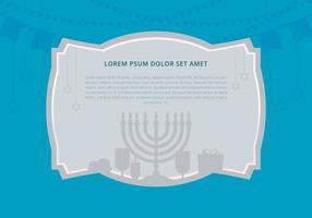 Hanukkah-Hintergrund-Schablone