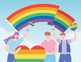 lgbtq Gemeinschaft für Stolzparade und Feier vektor