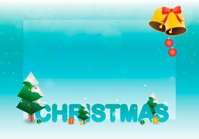 Sapin Tree Julhälsningar Mall vektor
