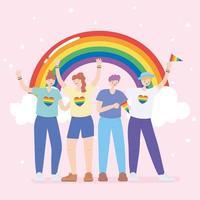 lgbtq community för pride parade och firande