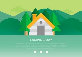 Sapin Jungle Camping Tag vektor