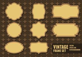Vintage-Rahmen-Sets vektor
