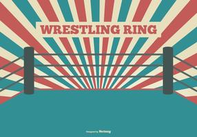 Flach Art Wrestling Ring Illustration vektor
