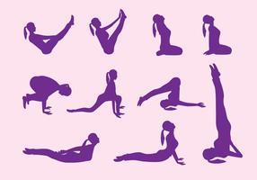Yoga Schritt Vektoren