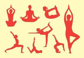 Yoga-Haltungs-Vektor-Pack vektor