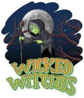 böse Hexen auf einem Nachthintergrund