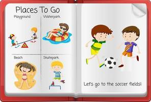 öppna aktivitetsdagbokssidan