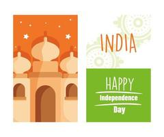 indisk självständighetsdag vektor