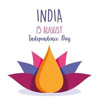 Happy India Independence Day Design vektor