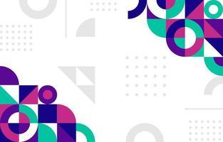 abstrakter bunter flacher geometrischer Hintergrund