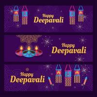 Deepavali Indian Festival feiern vektor