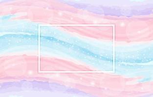 Pastell Aquarell Wellen Zusammensetzung vektor