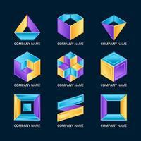 abstrakt geometrisk logotyp set
