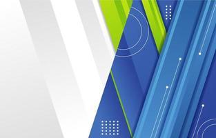 virtueller Besprechungshintergrund der weißen grünen blauen geteilten Farbe vektor
