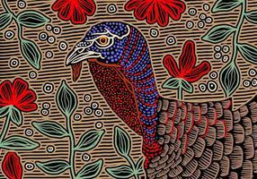 Wild Turkey abstrakt bakgrund