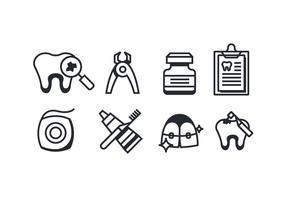 Zahnarzt-Icons