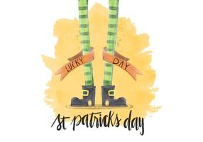 Saint Patricks Day vattenfärg illustration