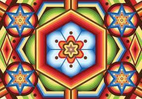 Huichol-Muster-Vektor