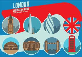 London Sehenswürdigkeiten Icons vektor