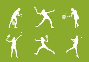 Tennis Silhouette Free Vector