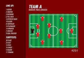 Football Ground Formation Top Free Vector