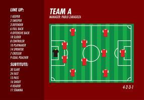 Fotbollsplan Formation Top Gratis Vector