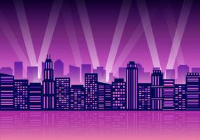 Gratis City Lights Vector Illustration