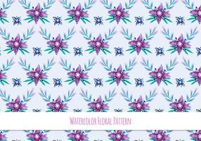 Gratis Vector akvarell mönster med blommor Theme