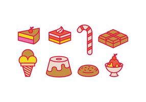 Süße Vektoren Icons