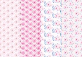 Vector Floral Spring Patterns