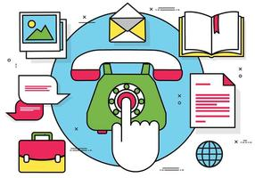 Freie Wohnung Vector Telefon Illustration