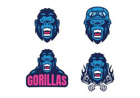 Fri gorilla vektor