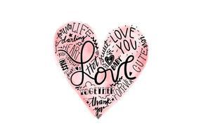 Valentinstag-Beschriftung vektor