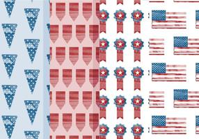 Vector 4. Juli Patterns