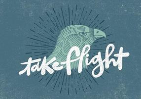 Retro Hawk-Kopf-Entwurf