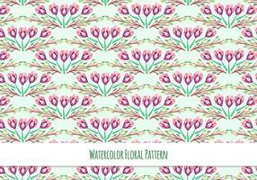 Gratis vektor vattenfärg mönster med vårblommor