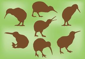 Gratis Kiwi Bird Icons Vector