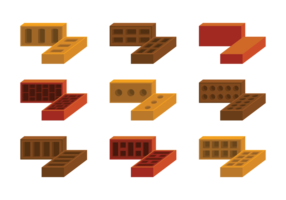 Mauerwerk Icons Vektor